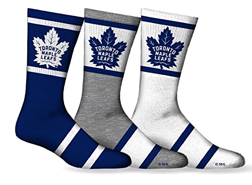Men's NHL Toronto Maple Leafs 3-Pack Sport Crew Socks