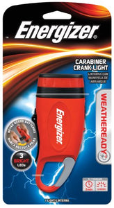 Energizer Weatheready 3-LED Carabineer Rechargeable Crank Light, Red