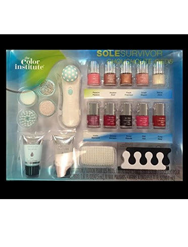 The Color Institute Foot Care and Nail Polish Kit