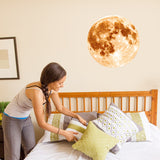 30cm Luminous Moon Earth Cartoon DIY 3D Wall Stickers for Kids Room Bedroom Glow In The Dark Wall Sticker Home Decor Living Room