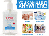 Germs Be Gone Liquid Gel Hand Sanitizer 236ml, Canadian Made. #1 Canadian Brand - DealsandLiquidations.com