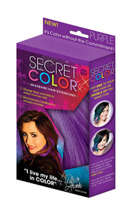 Secret Color Clip on Headband Hair Extensions-As Seen on TV (2 Pack) - DealsandLiquidations.com
