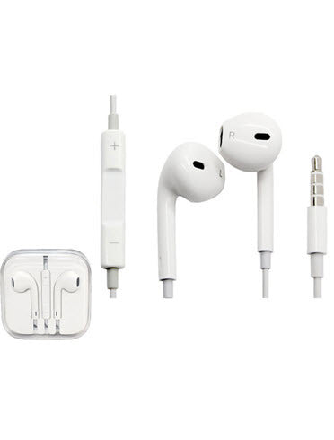 2 Pairs of iPhone-Inspired Earbuds with Remote and Mic