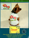 CASUAL CANINE SURFER GIRL JERSEY TEE