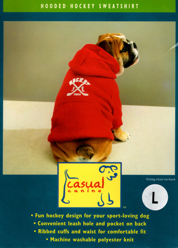 Dog Sports hooded sweatshirt Hockey