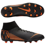 Nike Men's Mercurial Superfly 6 Club MG Outdoor Soccer Cleats - Black/Orange/White