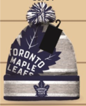 Toronto Maple Leafs Licensed NHL Pom Pom Beanie Toque