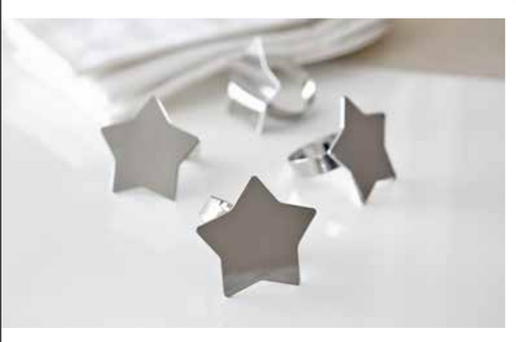 Harman Napkin Rings Metal (Star & Snow Flake)