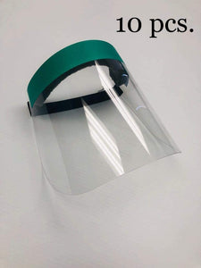 10 Face Shields - 37cm x 23cm (PPE) Reusable one Size fits All - Made in Canada - DealsandLiquidations.com