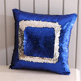2 x Pillow Covers Decorative Sequin Pillow Cover Magical Shining Changing Reversible Patchwork Pillow Case