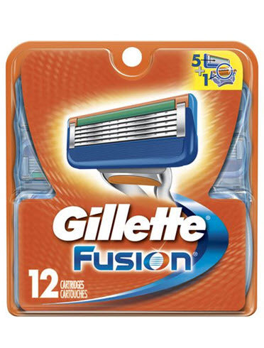 Gillette Fusion Replacement Razor Blades (12-Pack) - DealsandLiquidations.com