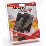 Micro Knife is a Credit Card folding pocket knife (2 Pack)