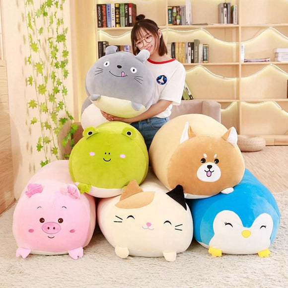 Squishy Chubby Cute Cat Plush Toy Soft Cute Pillow Cushion Animal Shaped