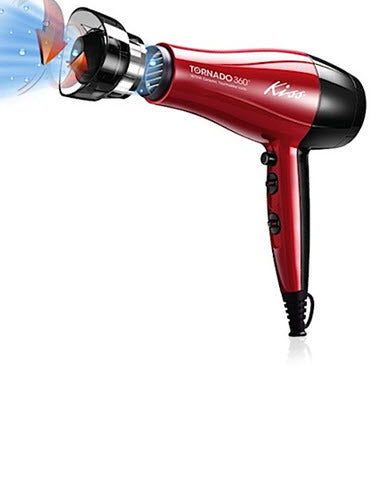Kiss Tornado 360 Ceramic Tourmaline Ionic Hair Dryer