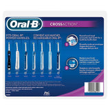 Oral-B CrossAction Electric Toothbrush Replacement Heads with Bacteria Guard 9-pack