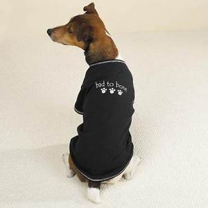 BAD TO THE BONE Dog T-Shirt Tee Cotton by Casual Canine