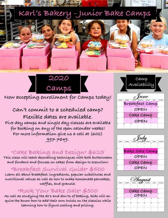 Karl's Bakery - Junior Bake Camps!