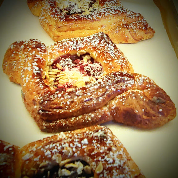 Raspberry Granola Danish