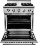 "NXR SC3055LP 30"" Propane Gas Range & EH3019 Under Cabinet Hood Bundle, Stainless Steel"