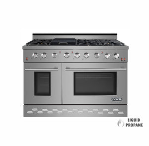 "NXR SC4811LP 48"" 7.2 cu.ft. Pro-Style Propane Gas Range with Convection Oven, Stainless Steel"
