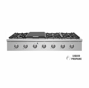"NXR SCT4811LP 48"" Pro-Style Propane Gas Cooktop, Stainless Steel"