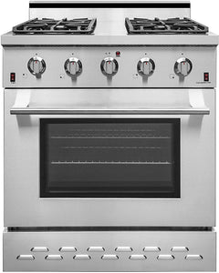 "NXR SC3055 30"" 4.5 cu.ft. Pro-Style Natural Gas Range with Convection Oven, Stainless Steel"