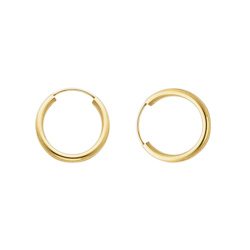 Plain Round Endless Hoops - 2 mm