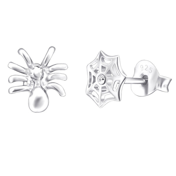 Spider and Web CZ Studs