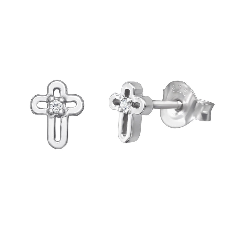 Open Cross Studs