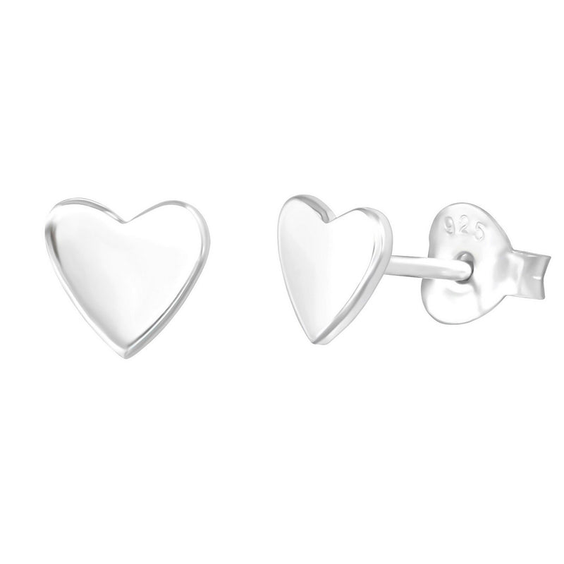 Solid Heart Studs