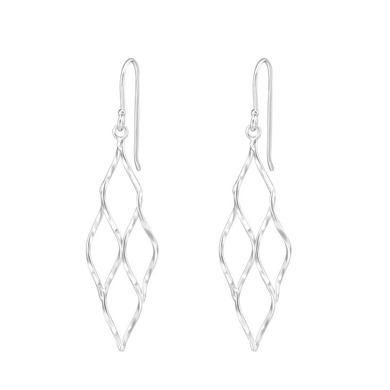 Curly Diamond Shaped Fashion Drop Earrings