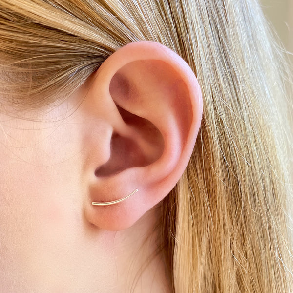 Curved Bar Ear Climbers