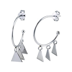 Triangle Charm Hoops