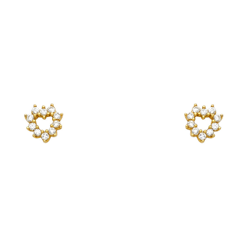 Heart Eternity CZ Studs