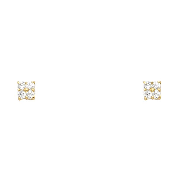 Small Flower CZ Studs