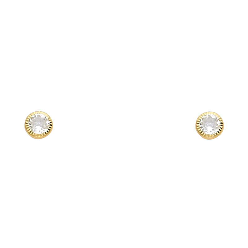Round Solitaire Fashion Studs