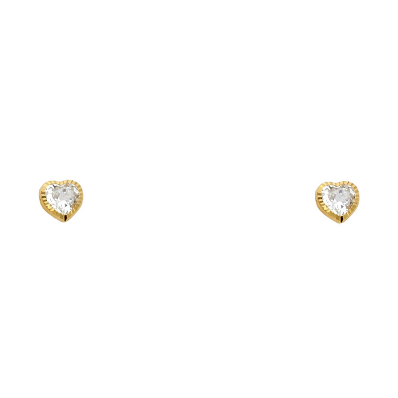 Heart Solitaire Fashion Studs