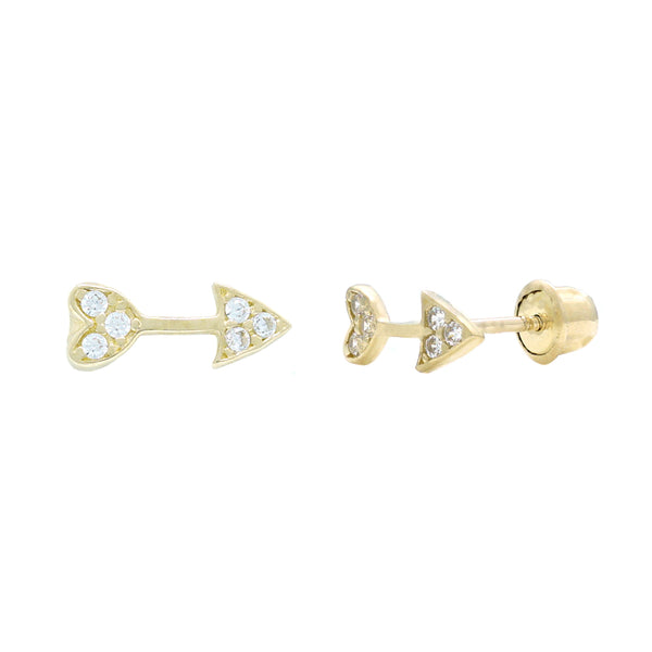 Heart Arrow CZ Studs