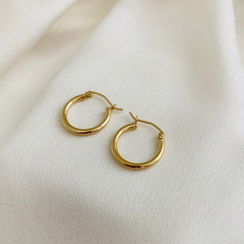 Plain Round Edge Hoops - 2 mm