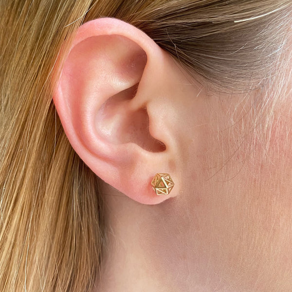 3D Hexagon Studs