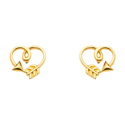 Arrow Heart Studs