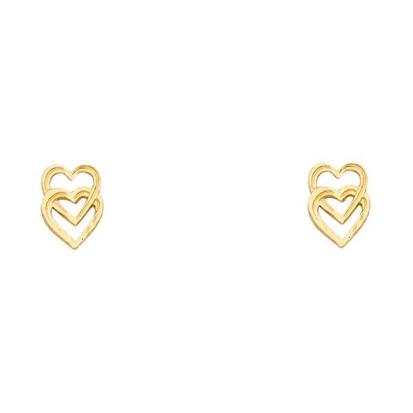 Interlooped Open Heart Studs