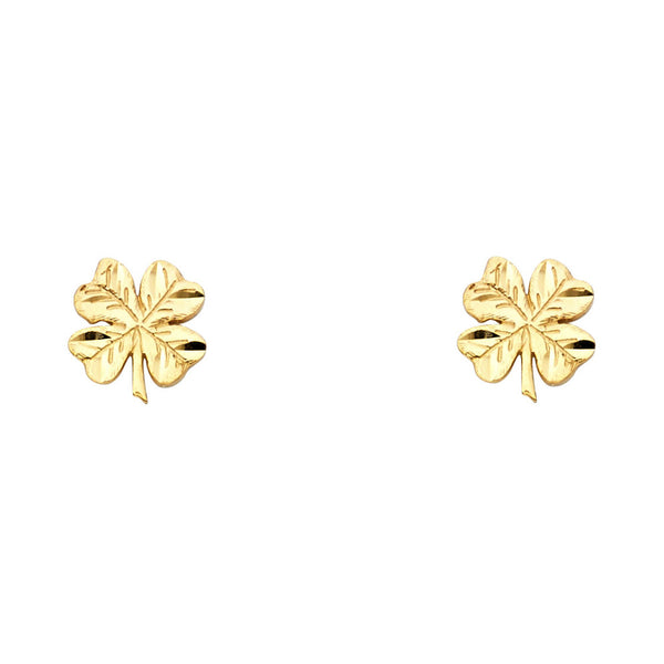 Four Leaf Clover Studs