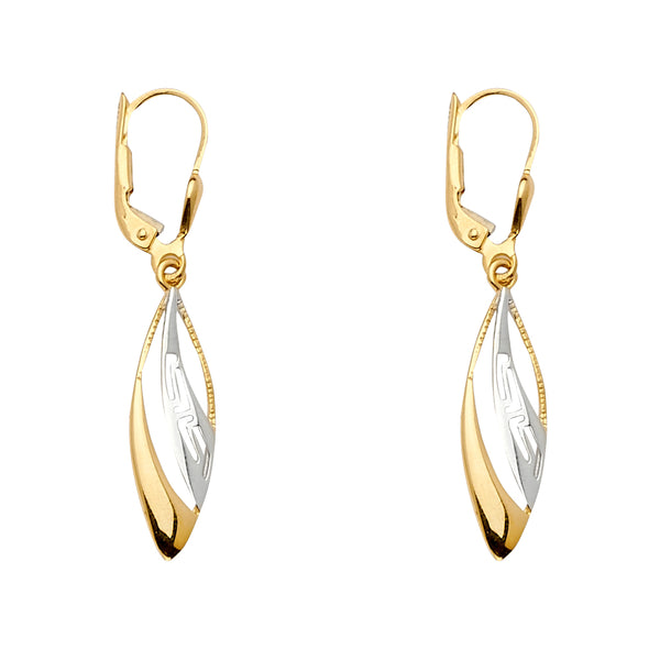 Open Marquise Dangle Earrings