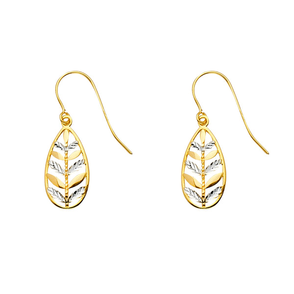 Leaf Teardrop Dangle Earrings