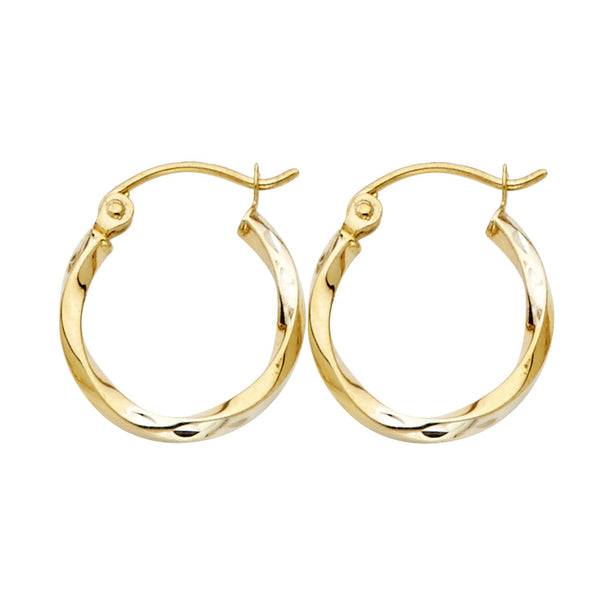 Plain Curled Hoops - 1.5 mm