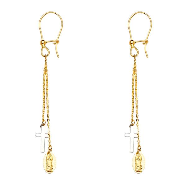 Cross & Mary Drop Earrings
