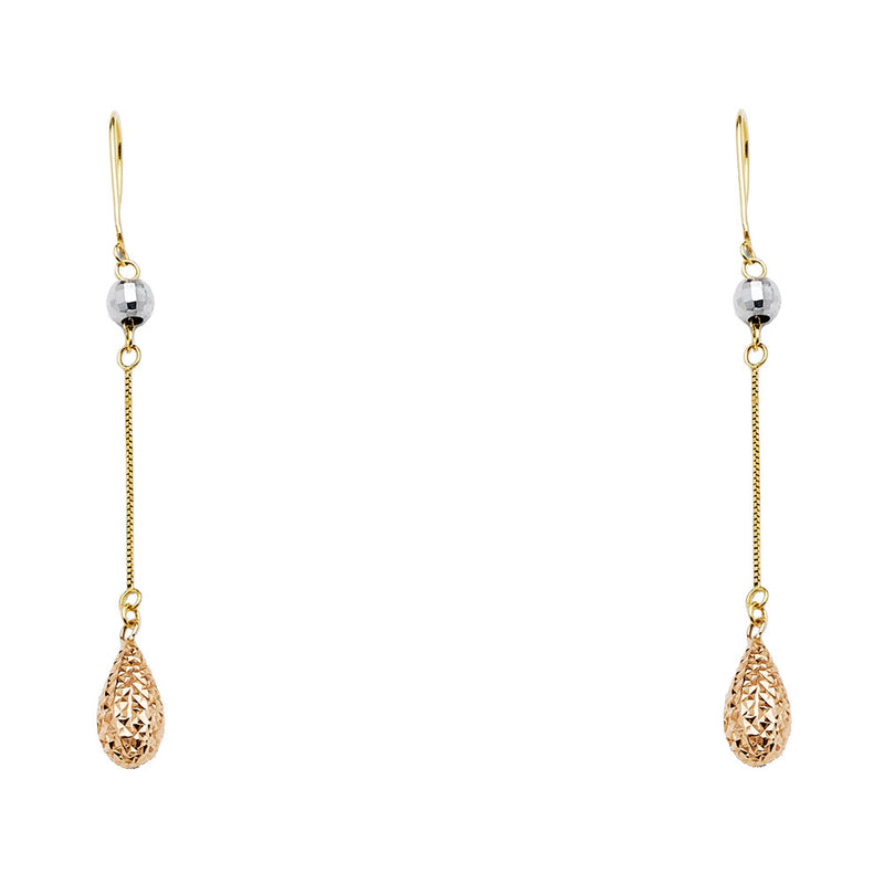 Teardrop Bead Drop Earrings