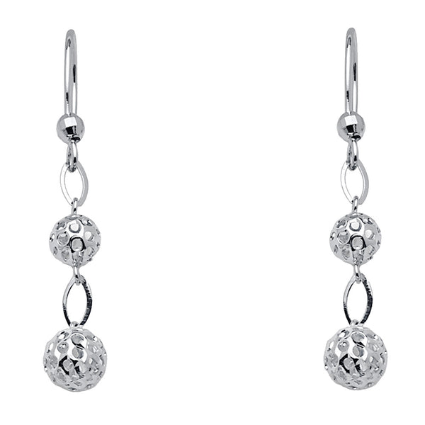 Perforated Ball Drop Earrings