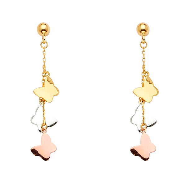 Butterfly Charm Drop Earrings